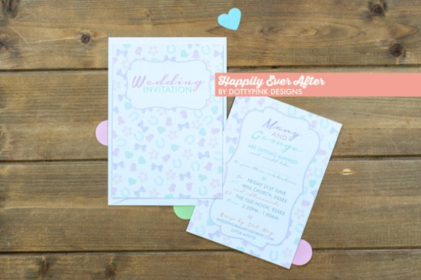 happily ever after, dottypink designs, hollybooth photo, wedding stationery