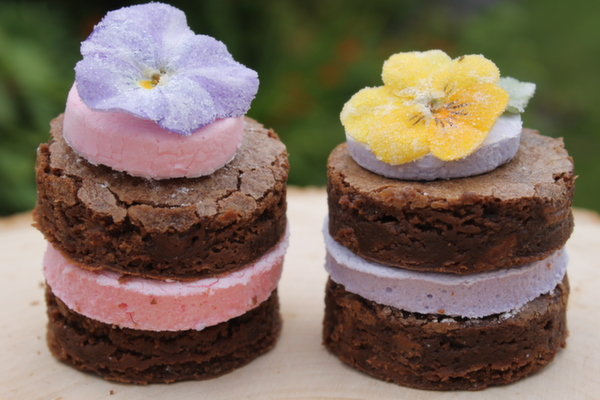 individual brownie cakes , Anna's Bakes , naked wedding cakes