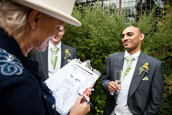 Ramster Hall Wedding Photos | FitzGerald Photographic / Caricaturist - Drawn by Helen - http://www.drawnbyhelen.co.uk