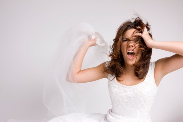 stressed  bride, throwing veil, control freak, bridezilla, bridal dilemmas, flushing bride, uk wedding blog