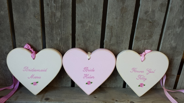 personalised wedding hearts, giddy kipper