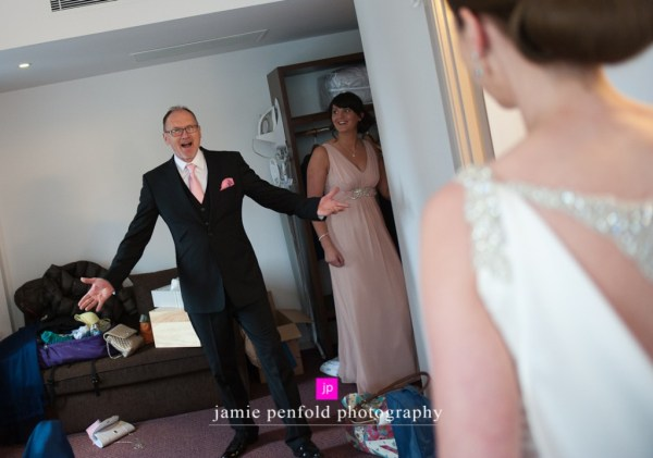 © jamie penfold photography 2015 - www.memoriesandemotions.co.uk, Father pf the Bride first look