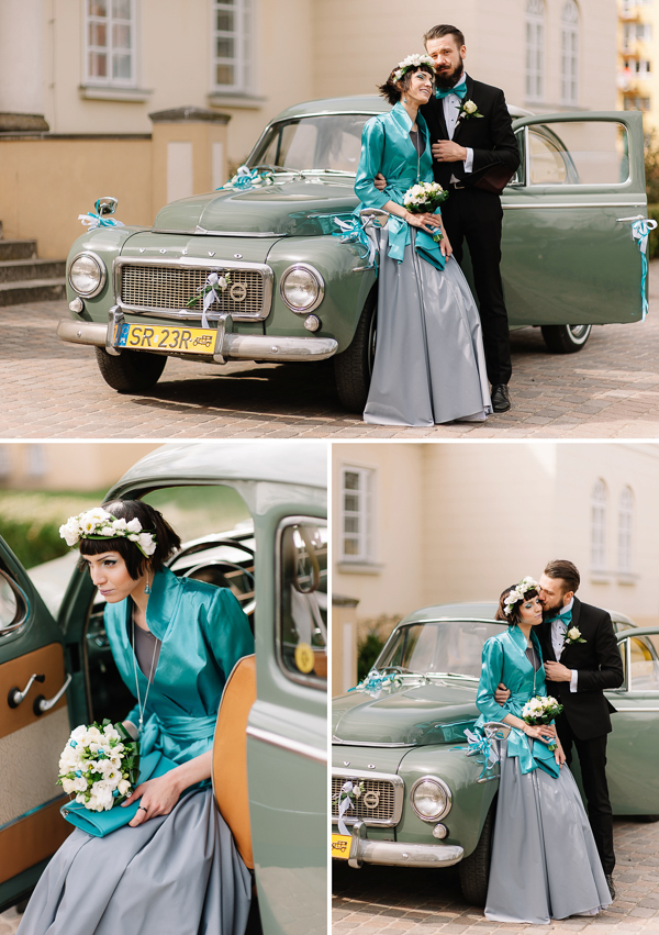 jollyday-photography, polish-wedding, polish-wedding-photographers, bride and groom and wedding car