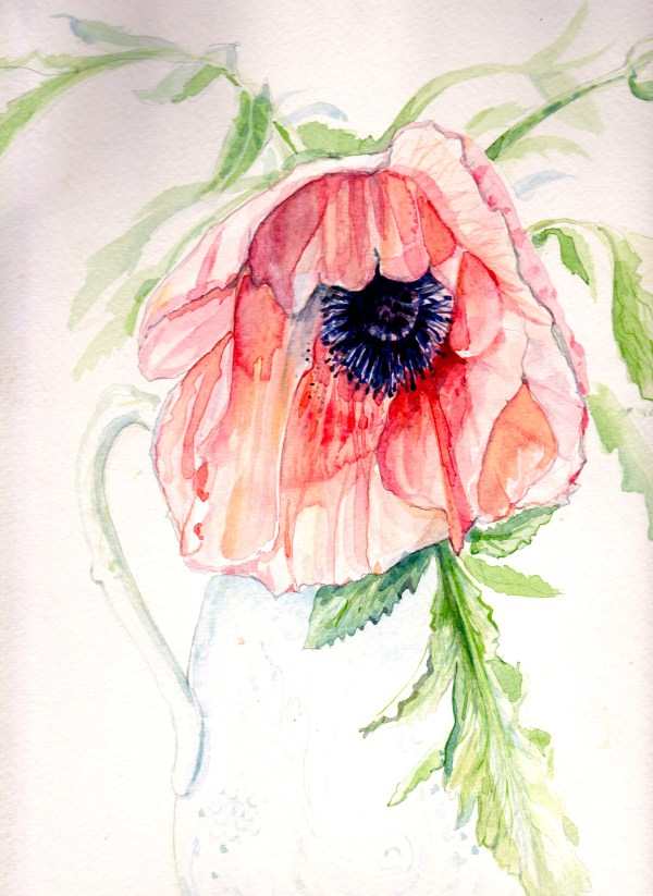 WED Mag March 2015, watercolour flower, bridal portraits, live wedding paintings, watercolour wedding portraits, wedding paintings, live wedding painter, uk wedding blog, charlotte atkinson