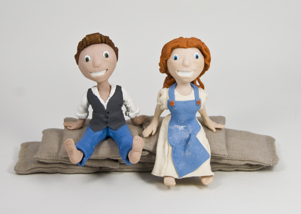 Rustic Couple Cake Toppers, Mindpipe weddings