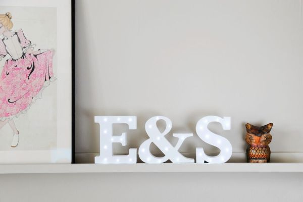 MrsPandPs Sunday Morning Cuppa, Wedding Blog , Blog Catch up, Up In Lights , Retro light up letters