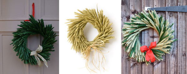 natural christmas decoration, christmas wreaths, shropshire petals