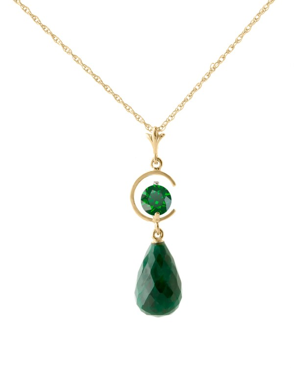 gold-necklace-with-9-30ct-emerald-pendant, bridal party jewellery, mother of the bride, mother of the groom