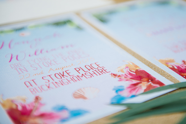 Stationery - swoon at the moon , tropical wedding, tropical wedding styled shoot, stoke place, hannah mcclune photography