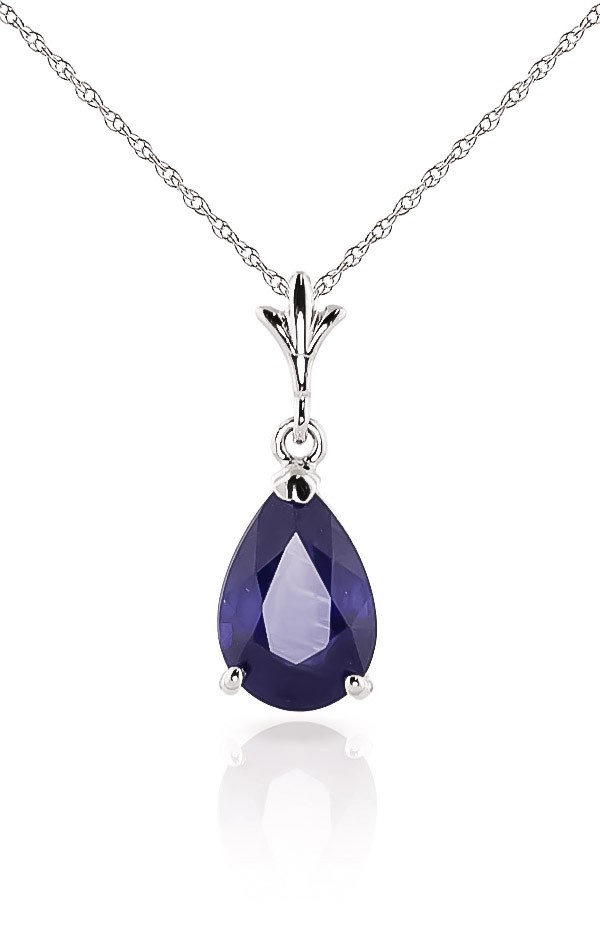 white-gold-belle-necklace-with-1-50ct-sapphire-pendant, bridal party jewllery, mother of the bride, mother of the groom