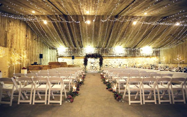 get-knotted, comrie_croft_barn, wedding venue, ceremony set up