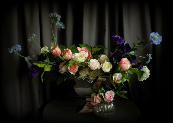 long arrangement, wildflower silk flowers, bride2bouquets, silk flowers, artificial flowers, bespoke silk flowers, wedding flowers, silk wedding flowers, silk flowers for events