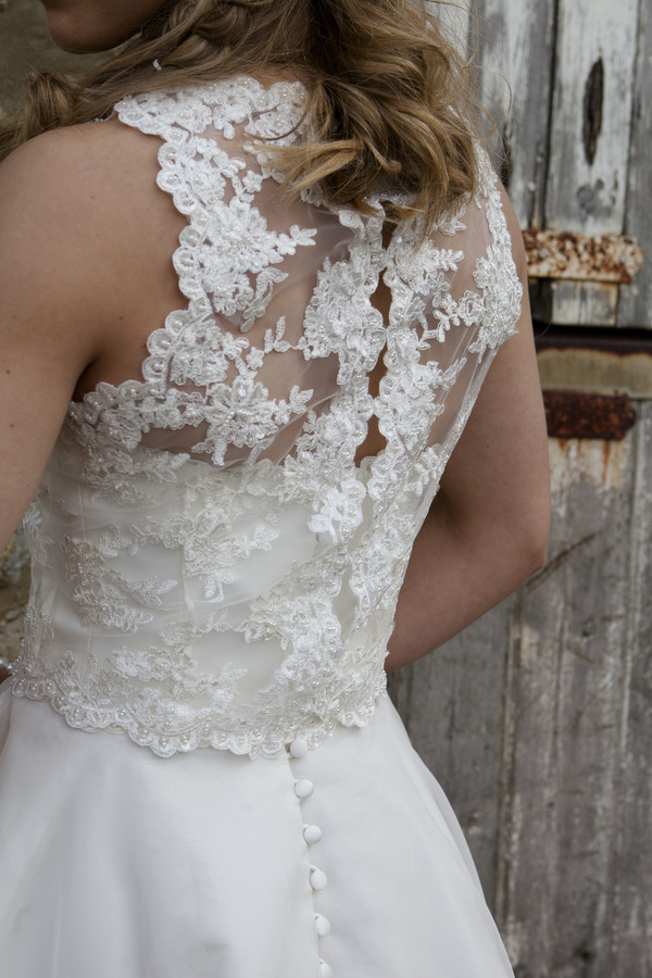 Charlotte back detail - Qiana Bridal, Regal Splendour Collection , 2017 collection, kate everall photo
