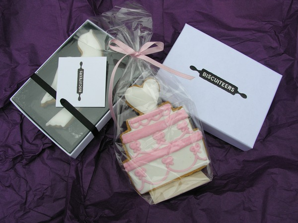 boxed-wedding-favours, Biscuiteers, wedding-biscuit, hand iced biscuits , wedding collection