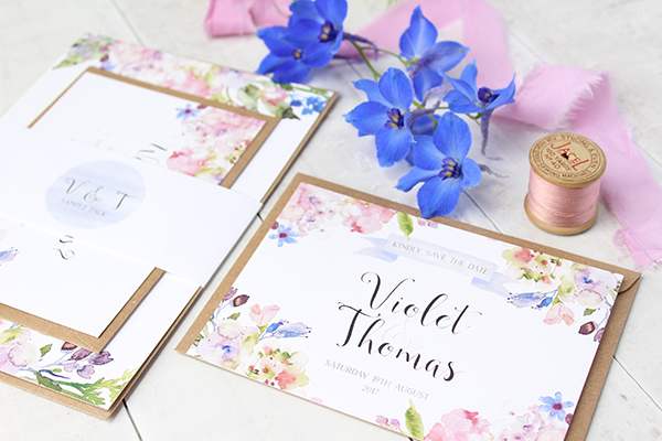 Violet Blossom, paper goods, wedding stationery, greetings cards, Belo Paperie