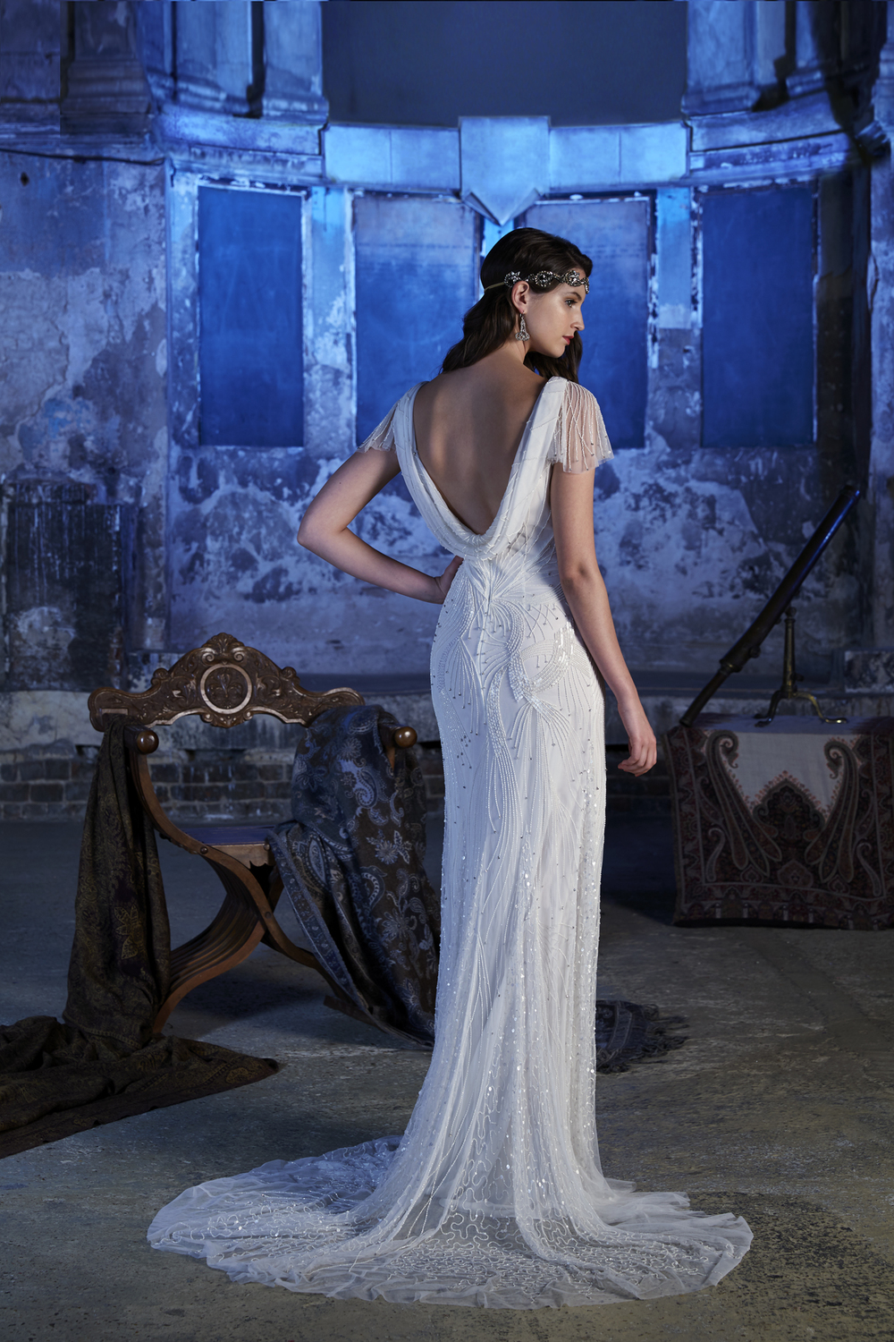 aquila-dress-back, Vintage inspired Wedding Dresses, 2017 Stardust Collection , Eliza Jane Howell , Images - Chris Dawes Photography
