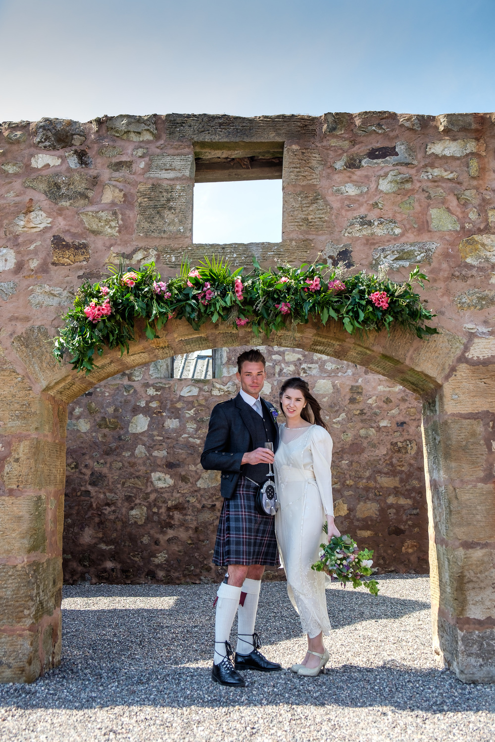 the-courtyard-arches, the cow shed crail, fife wedding venue, image - suzanne black photography