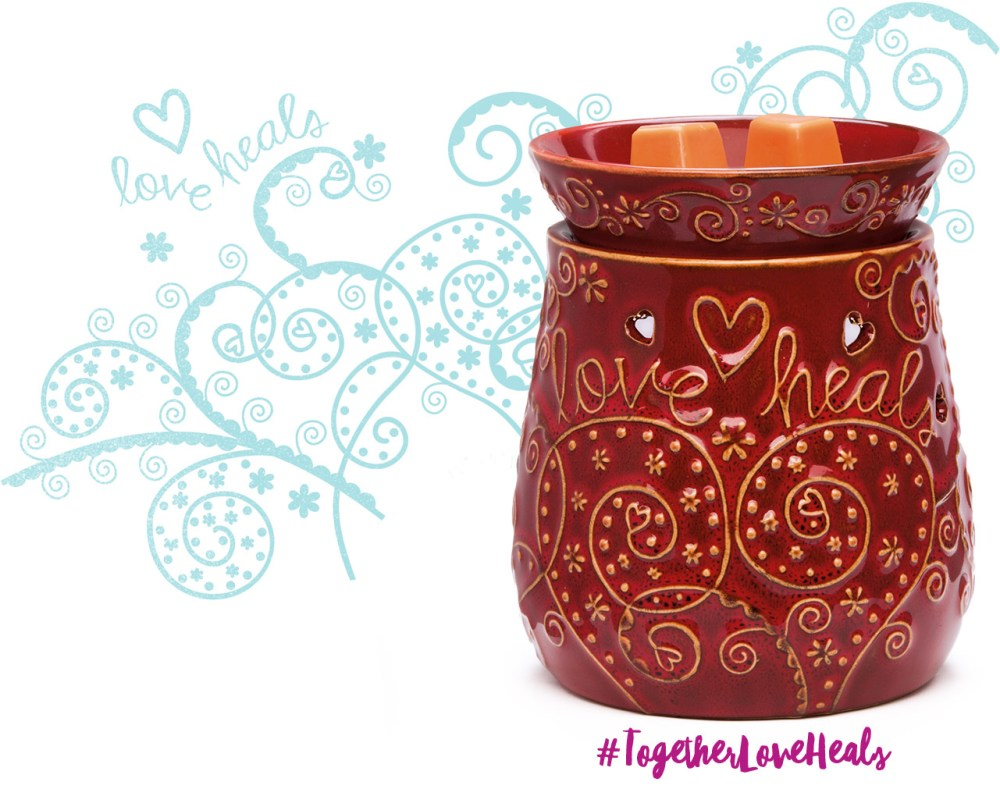scentsy, love-heals-warmer, clic sargent