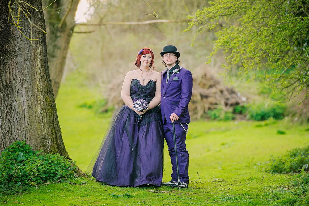 pengelly-photography-tim-burton-film-theme-wedding-purple-wedding-dress-essex-wedding-12jpg