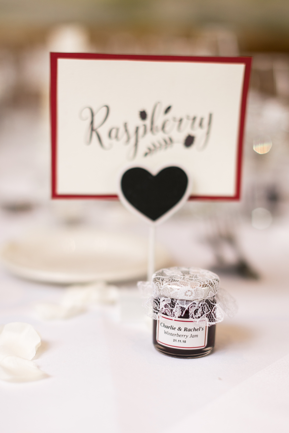 red-and-white-wedding-lancashire-wedding-gibbon-bridge-hotel-in-preston-winter-wedding-jam-table-names-hannah-k-photography-34