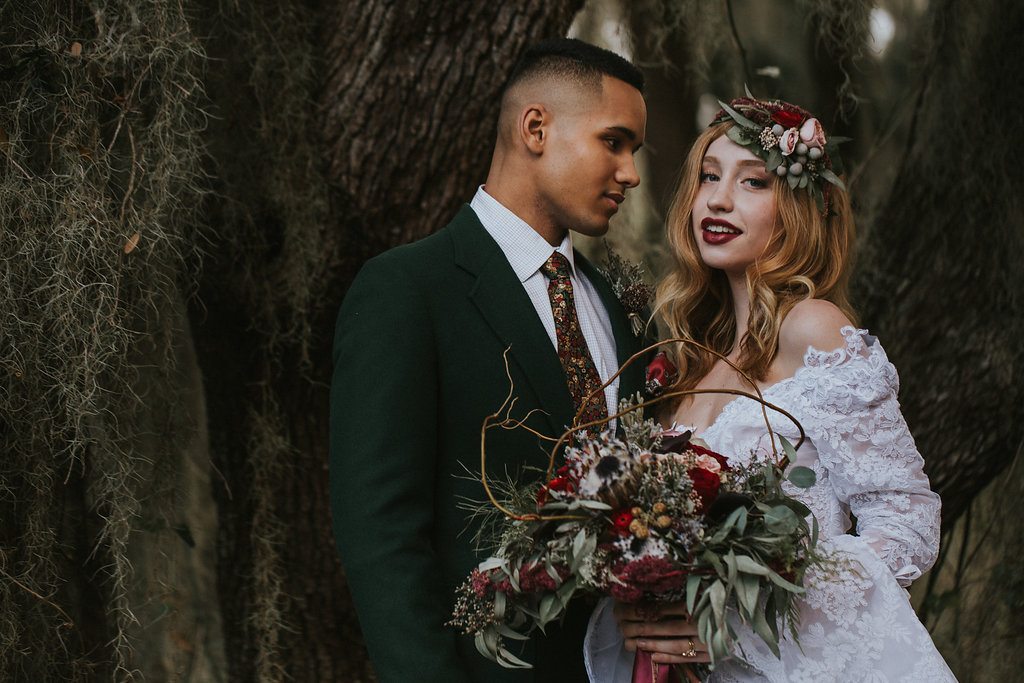 Enchanted Forest elopement styled shoot