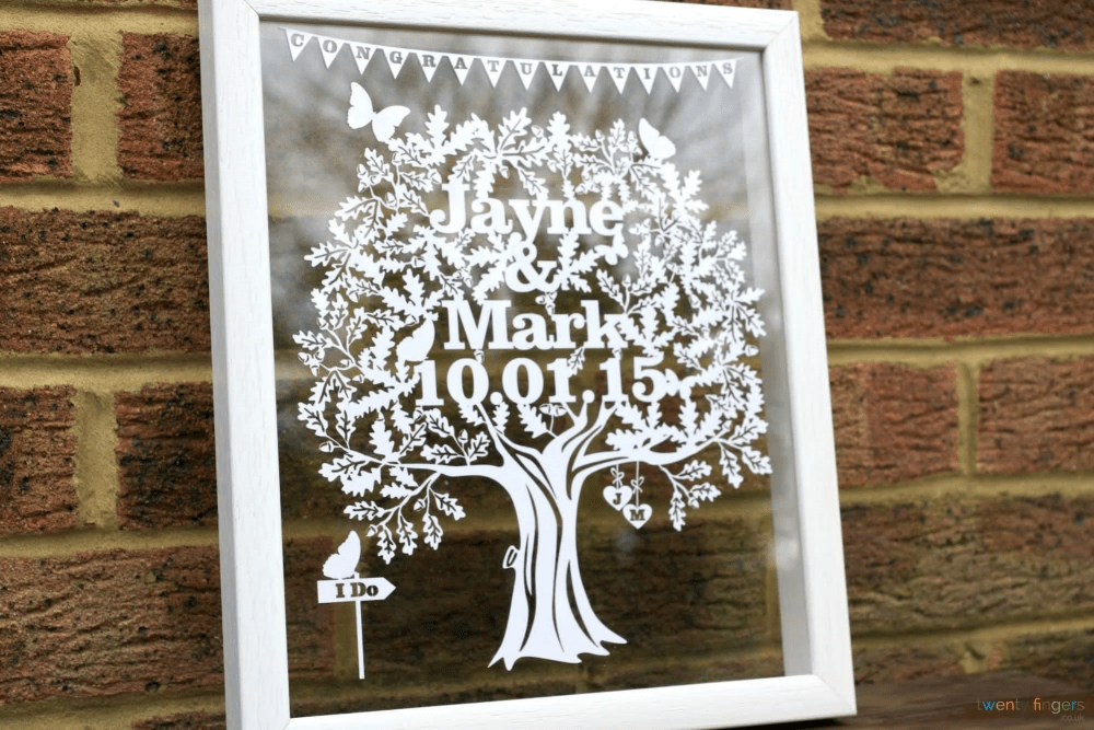 personalised papercuts - twenty fingers