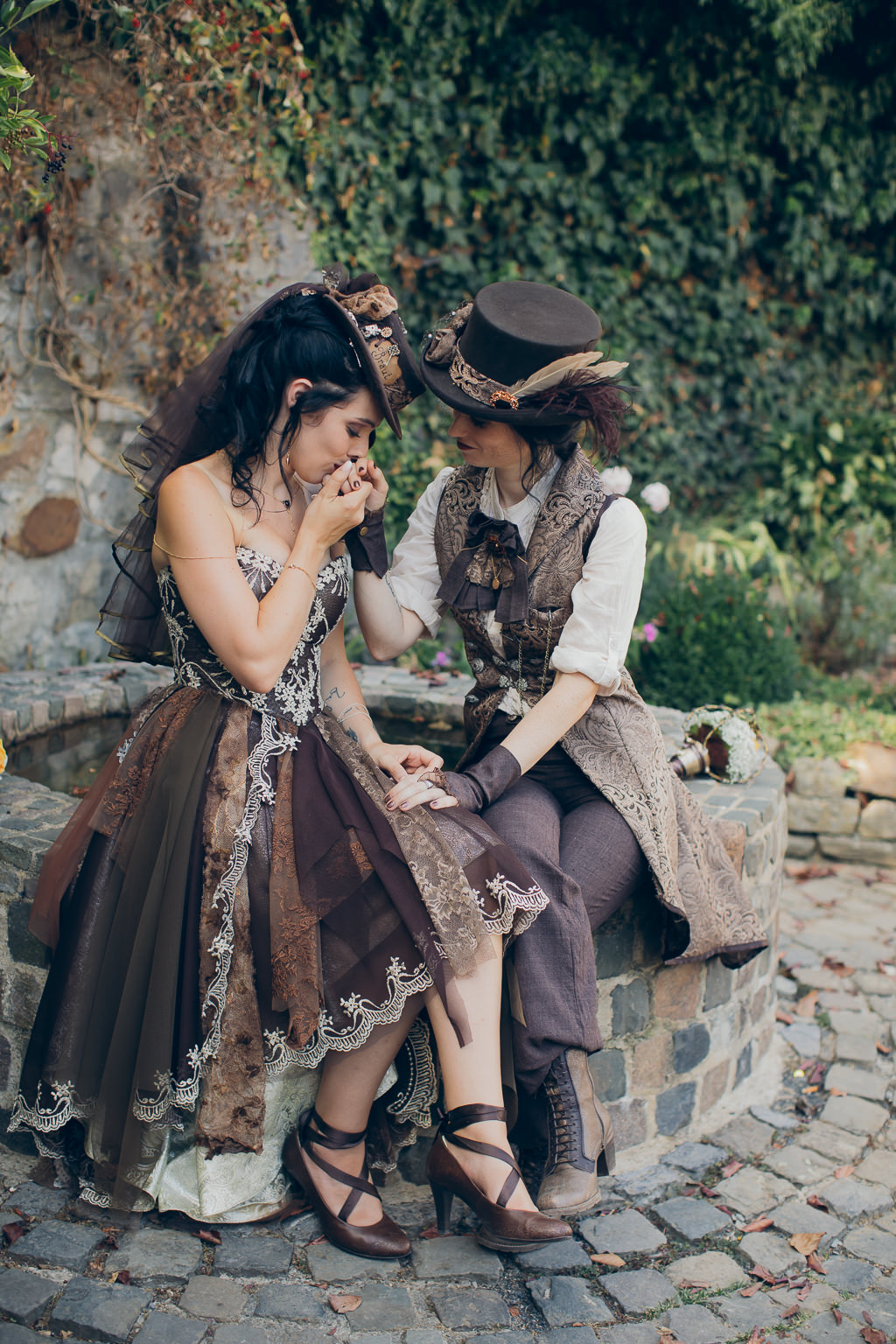 steampunk same sex wedding