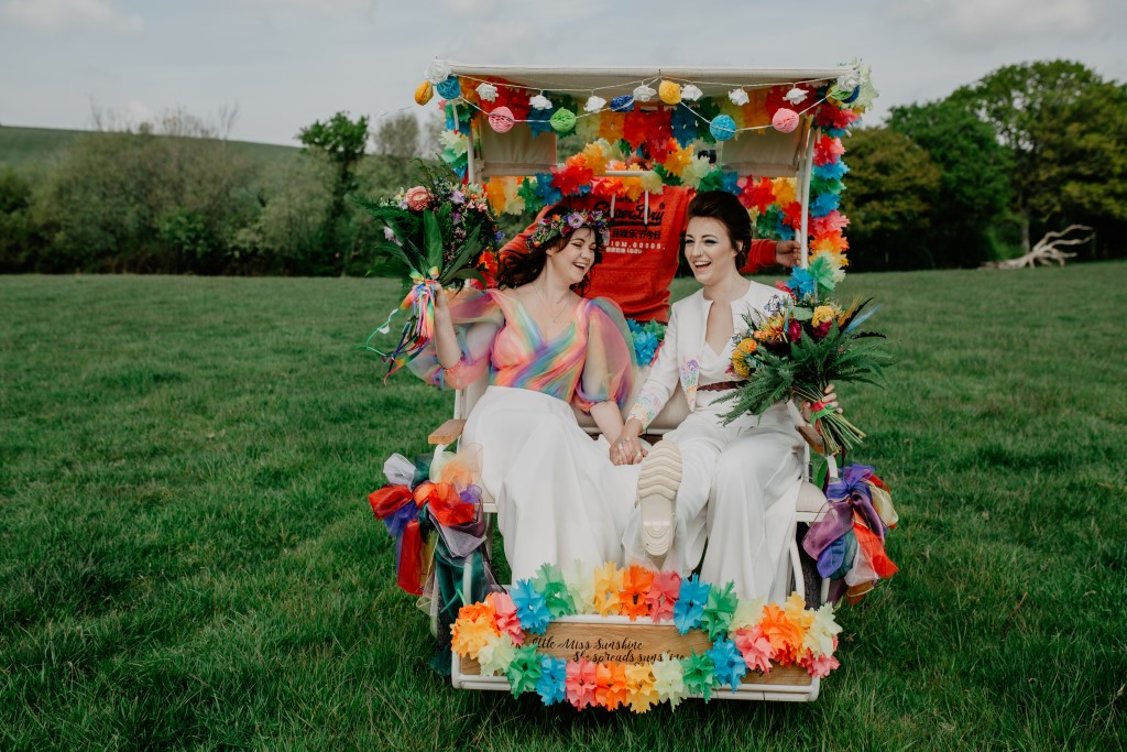 rainbow inspired wedding - colourful wedding