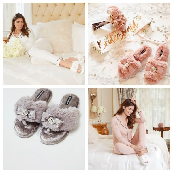 Gorgeous Wedding Slippers and Nightwear from Pretty You London