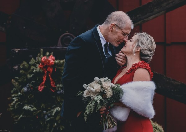 A Romantic and intimate Christmas themed Wedding at an Ohio Winery