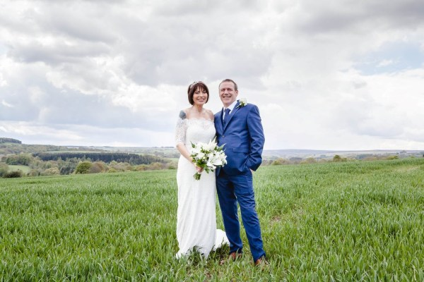 A Stunning Northumberland Wedding at Derwent Manor with pretty blue and white details