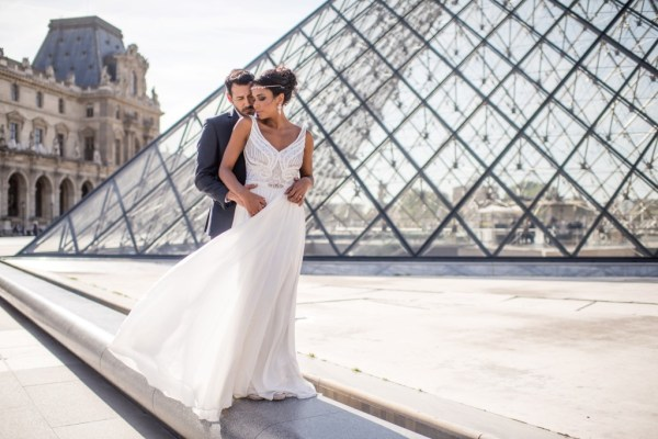 Whispers of Cherry Blossom for an exquisite Parisian Elopement Shoot