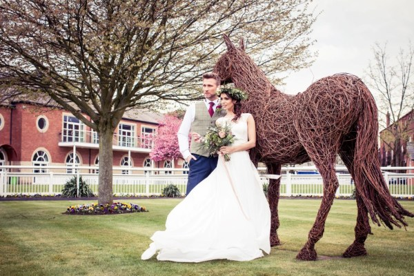 Rustic countryside wedding inspiration with accents of tweed and pink, purple and burgundy