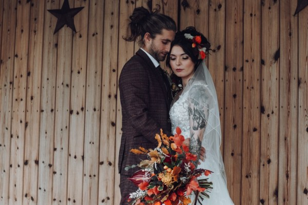 Alternative Autumnal Barn Wedding Inspiration with beautiful seasonal tones