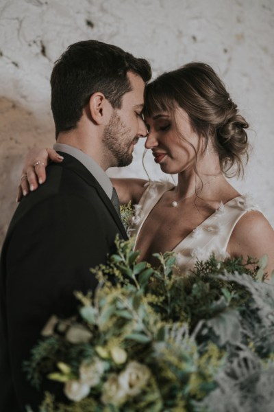 Elegant grey wedding styling inspired by stormy skies and rolling clouds