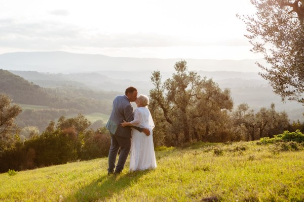 A stunning Italian Destination Wedding in Tuscany with colourful wild flower detail
