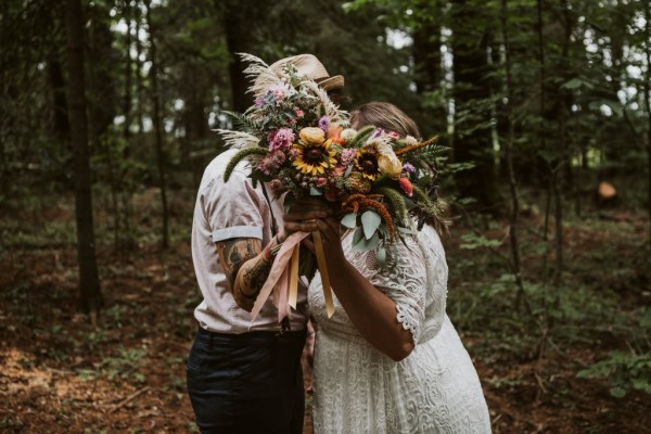 A gorgeous wild, happy and colourful bohemian inspired elopement in Ontario