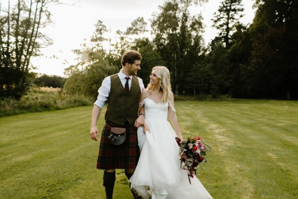 A beautiful Aberdeenshire Wedding at Logie House with pretty jewel tone details