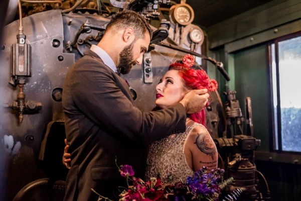 Spectacular Steampunk wedding inspiration where elegance meets theatrical meets vibrant colour
