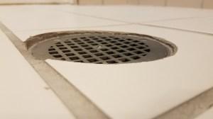 uneven drain in floor