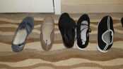 all my left shoes