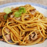 Stir-fried Beef Spaghetti with Black Pepper Sauce 黑椒牛柳炒意粉