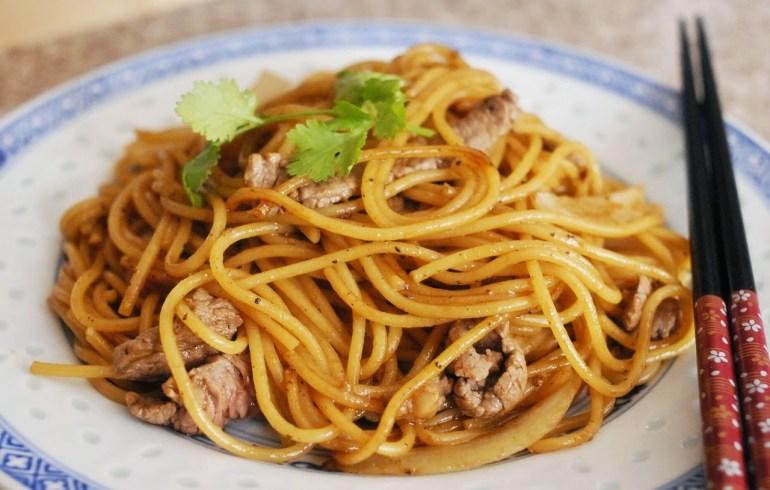 Recipe - Stir-fried Beef Spaghetti with Black Pepper Sauce