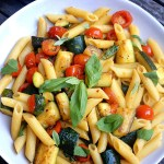 Penne with Zucchini and Cherry Tomatoes 蔬菜長通粉