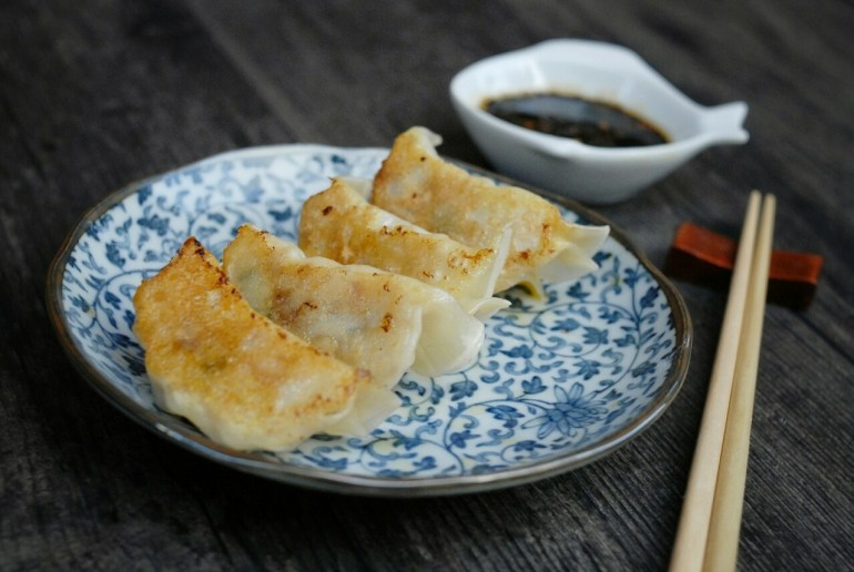 Kimchi Gyoza (dumplings)