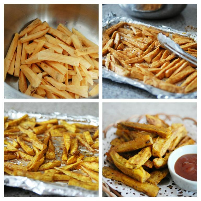 Recipe - oven baked sweet potato fries