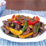 Stir-Fry Beef with Peppers 黑椒牛柳炒彩椒
