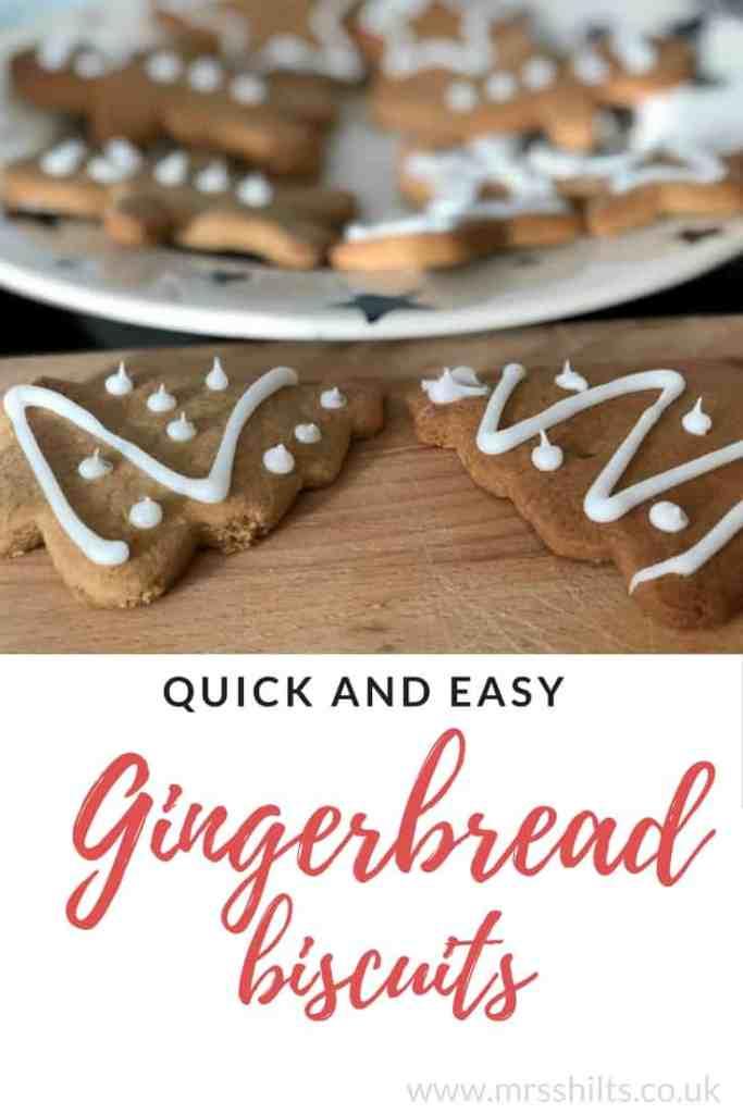 Gingerbread men biscuits