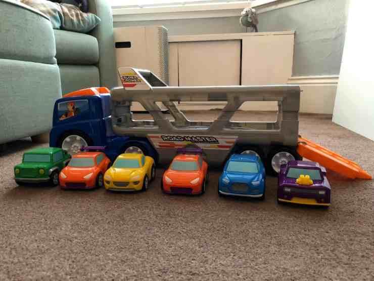 Big Steps Vroom Super Car Transporter from Smyths Toys 3