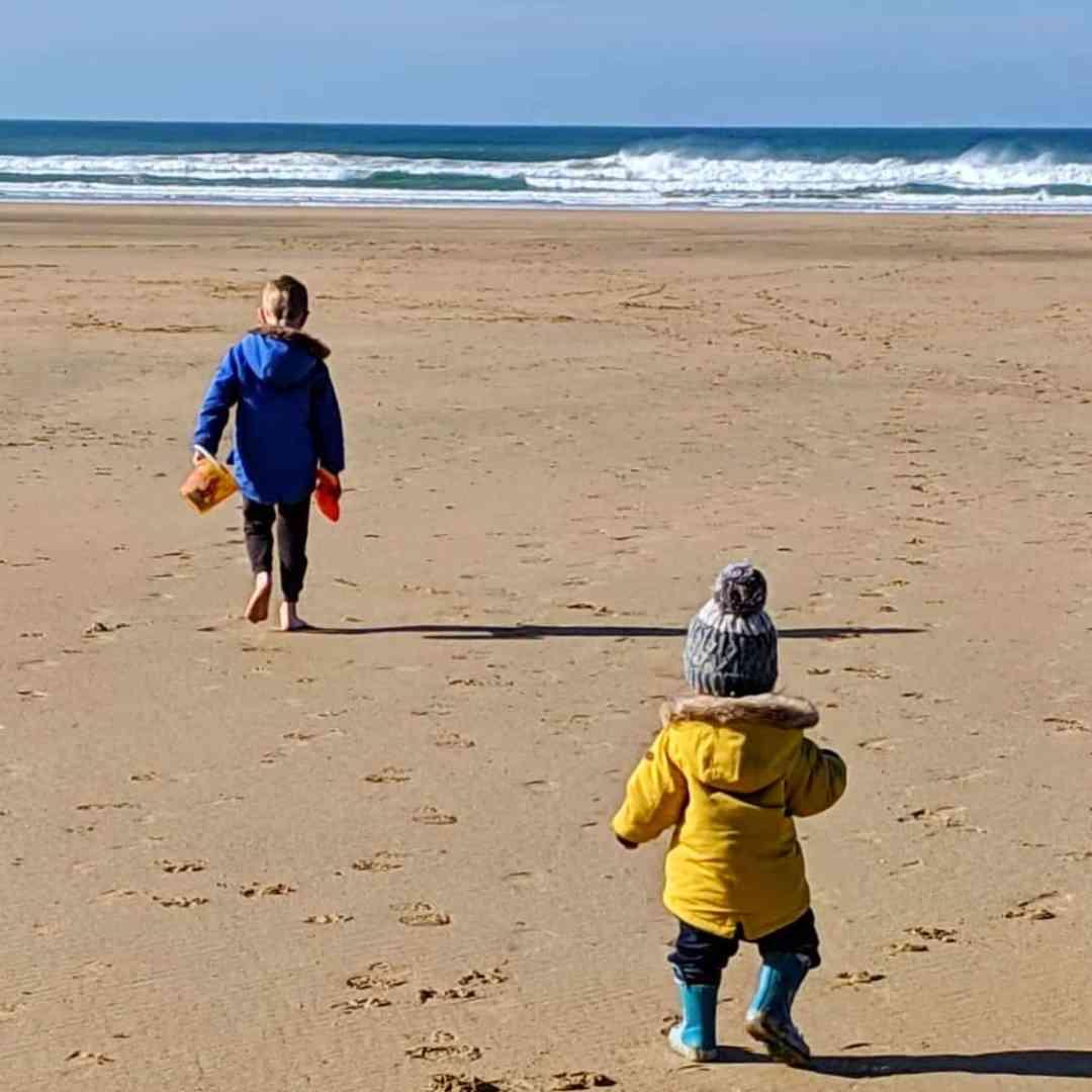 Boys on the beach February 2019